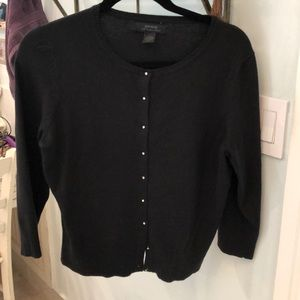 Express black cardigan with crystal buttons